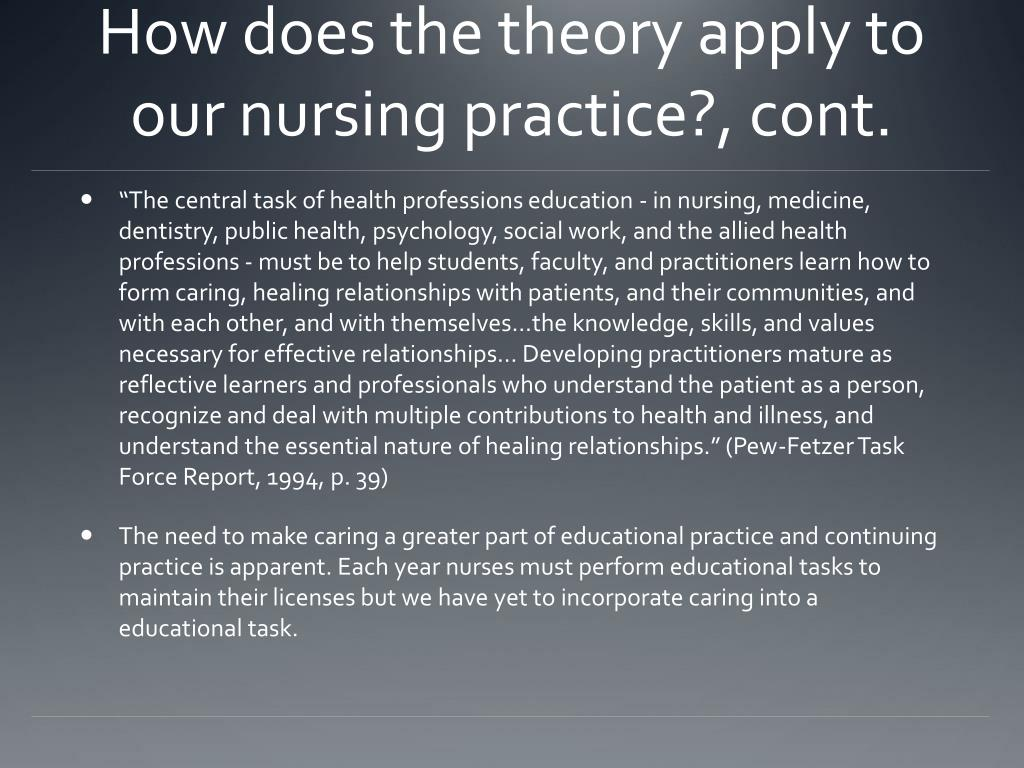 does nursing need theory It does not matter the degree you are obtaining, certificate, licensed or registered nurses need theory it is important to understand nursing theory as it gives you a foundation for your nursing .