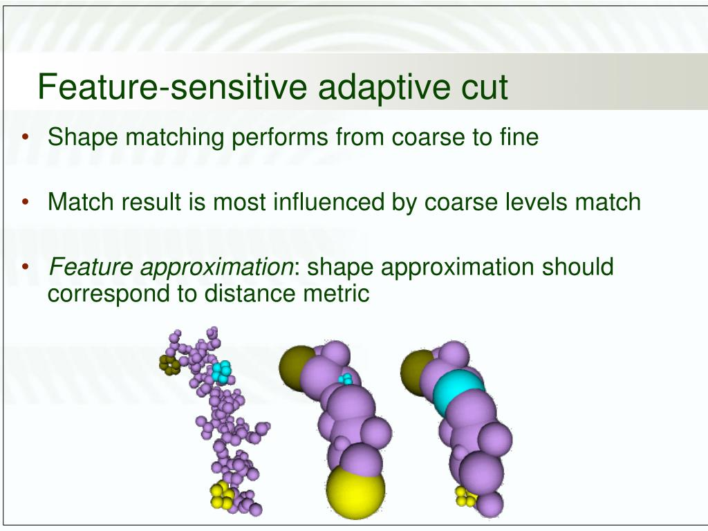 Feature-sensitive adaptive cut