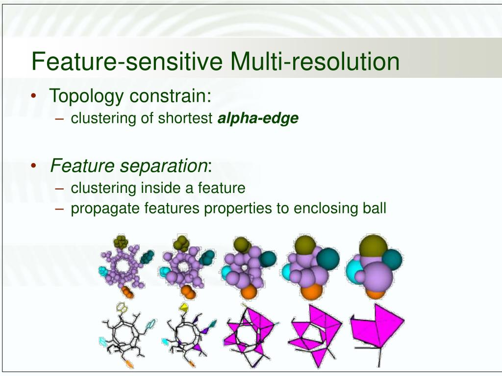 Feature-sensitive Multi-resolution