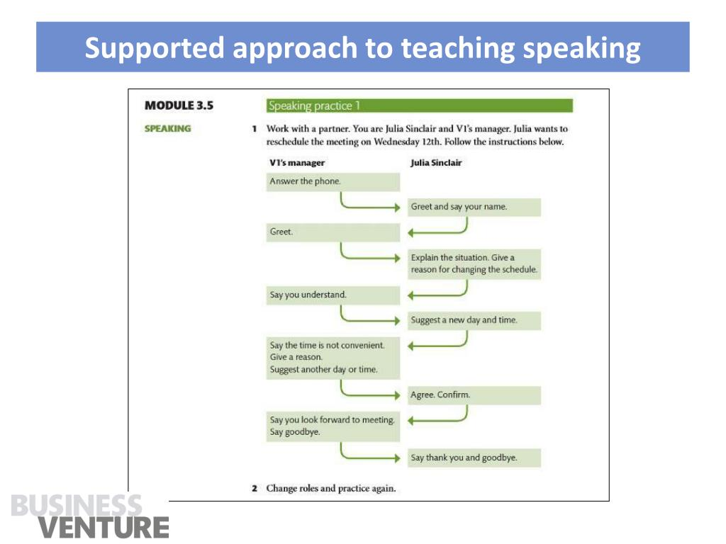 Supported approach to teaching speaking