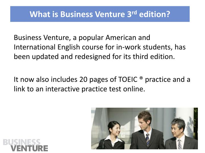 What is business venture 3 rd edition