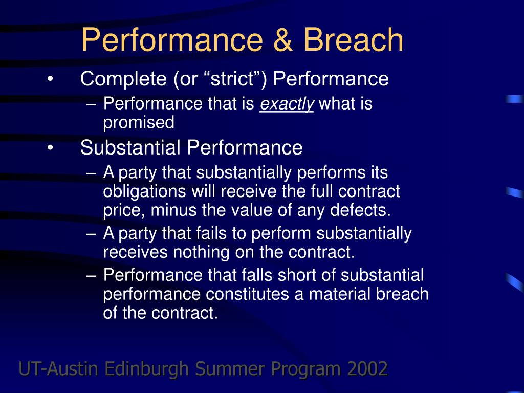 Performance & Breach