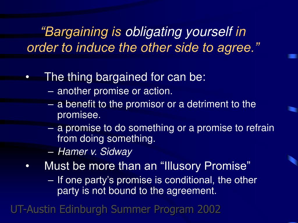"""Bargaining is"