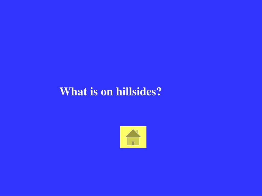 What is on hillsides?