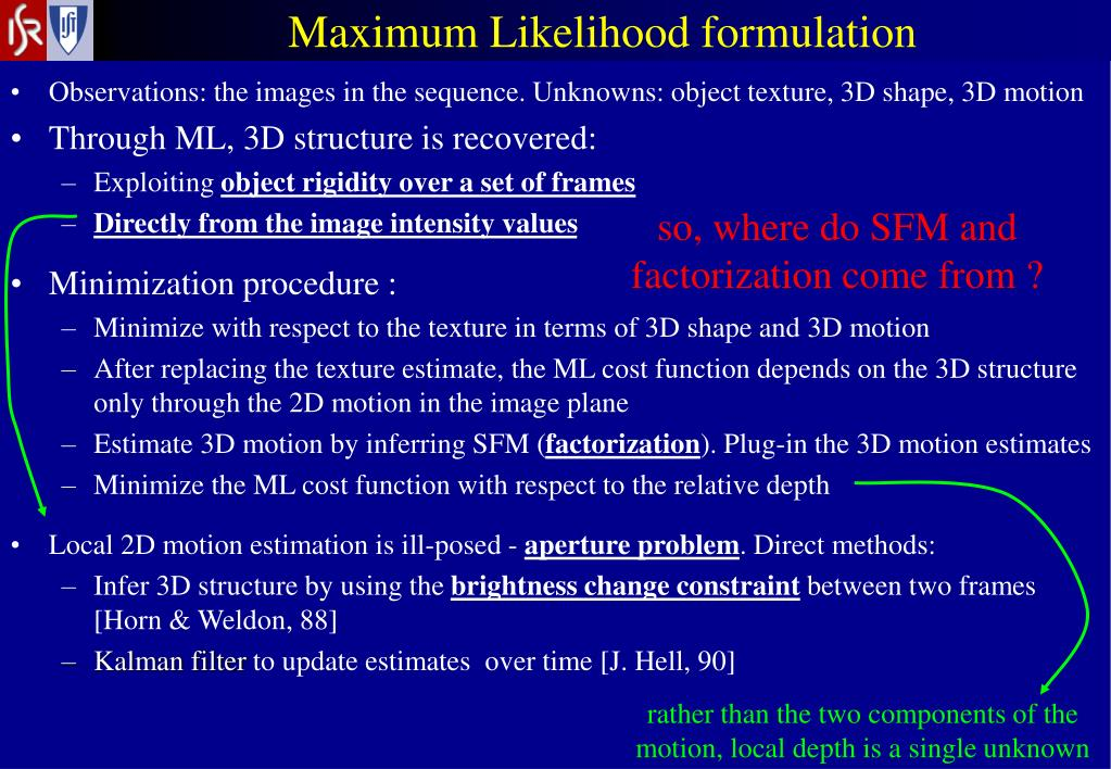 Maximum Likelihood formulation