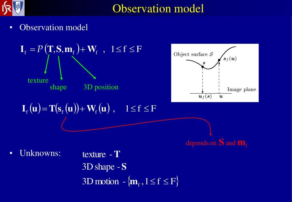 Observation model