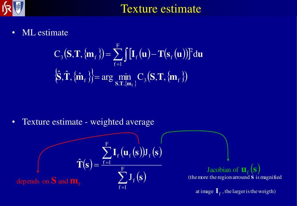 Texture estimate