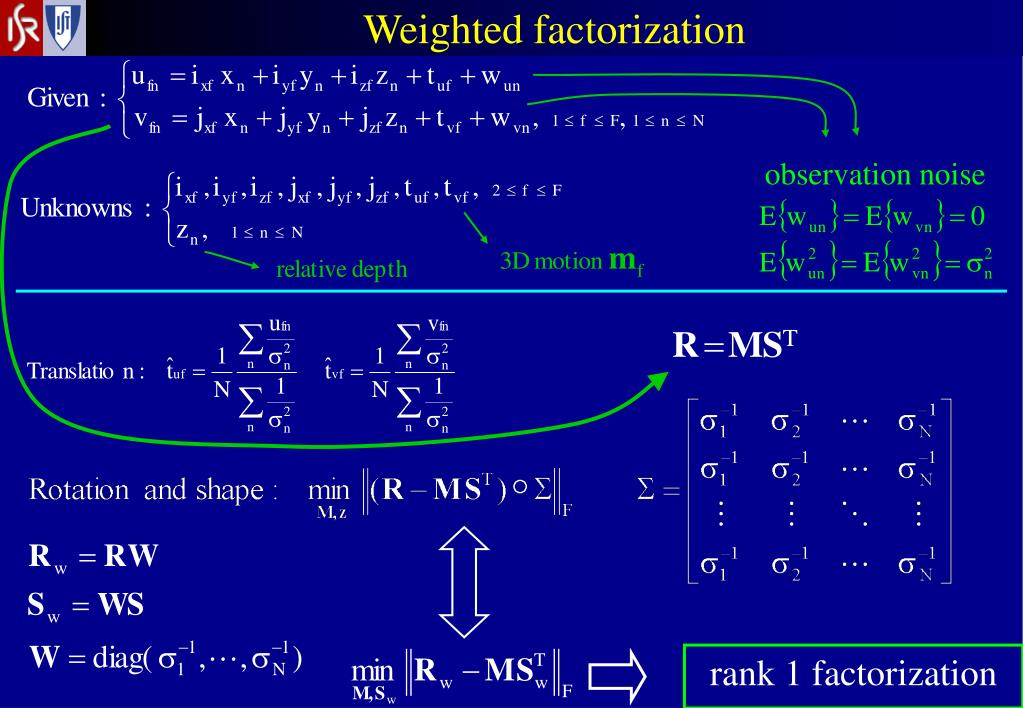 Weighted factorization