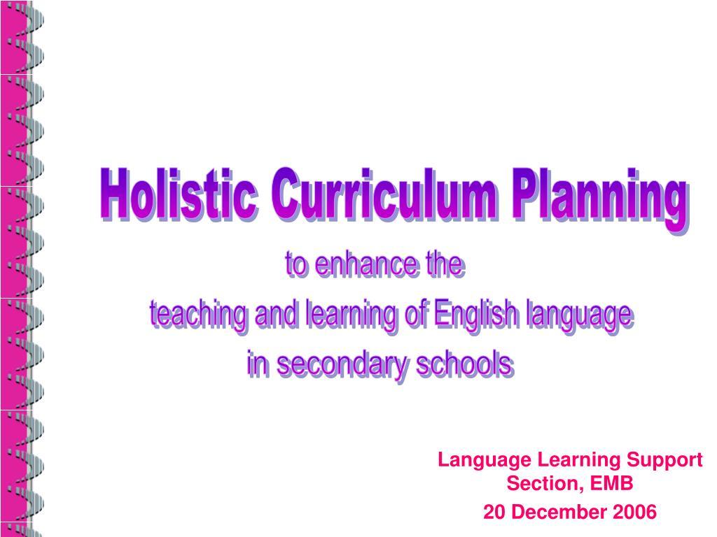 Holistic Curriculum Planning