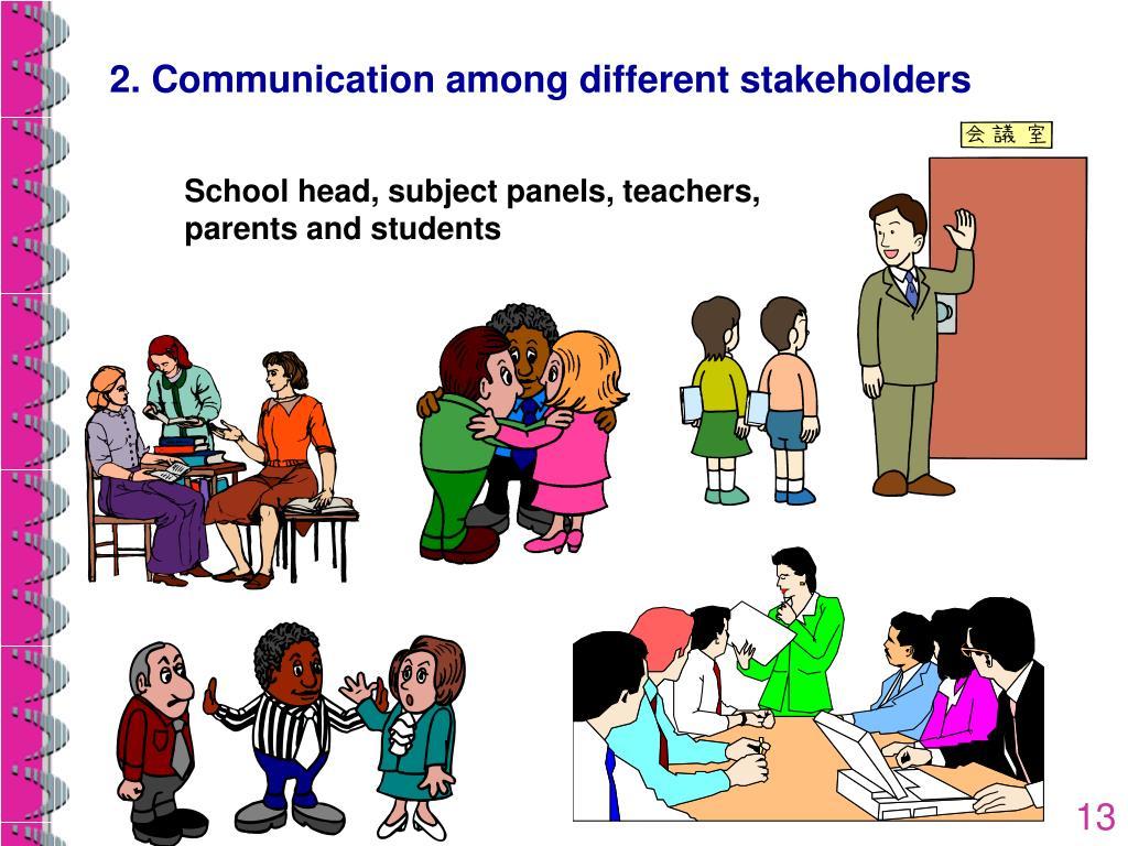 School head, subject panels, teachers, parents and students