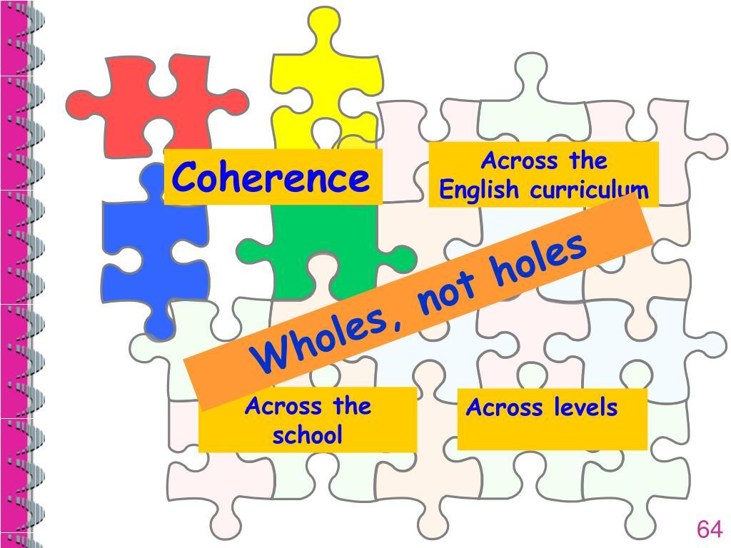 Across the English curriculum