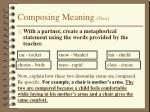 composing meaning two