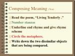 composing meaning you