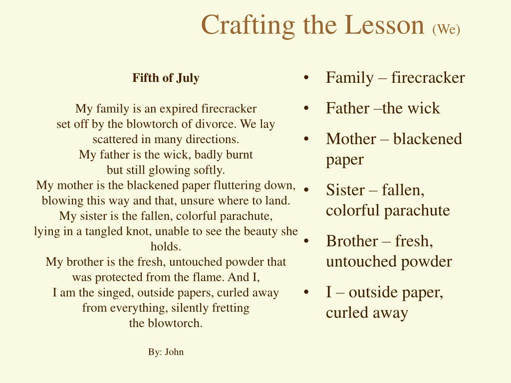 Crafting the Lesson