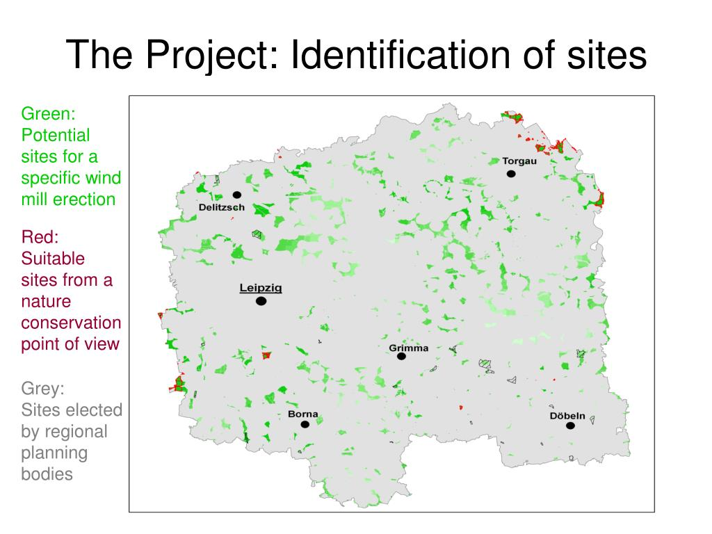 The Project: Identification of sites