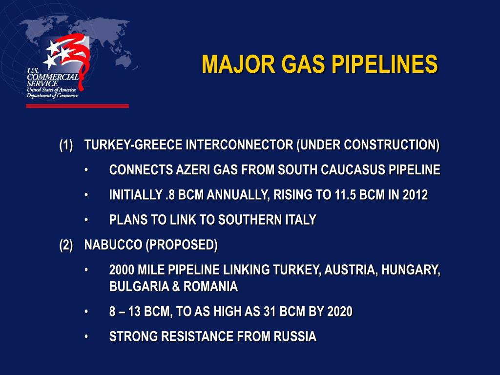 MAJOR GAS PIPELINES