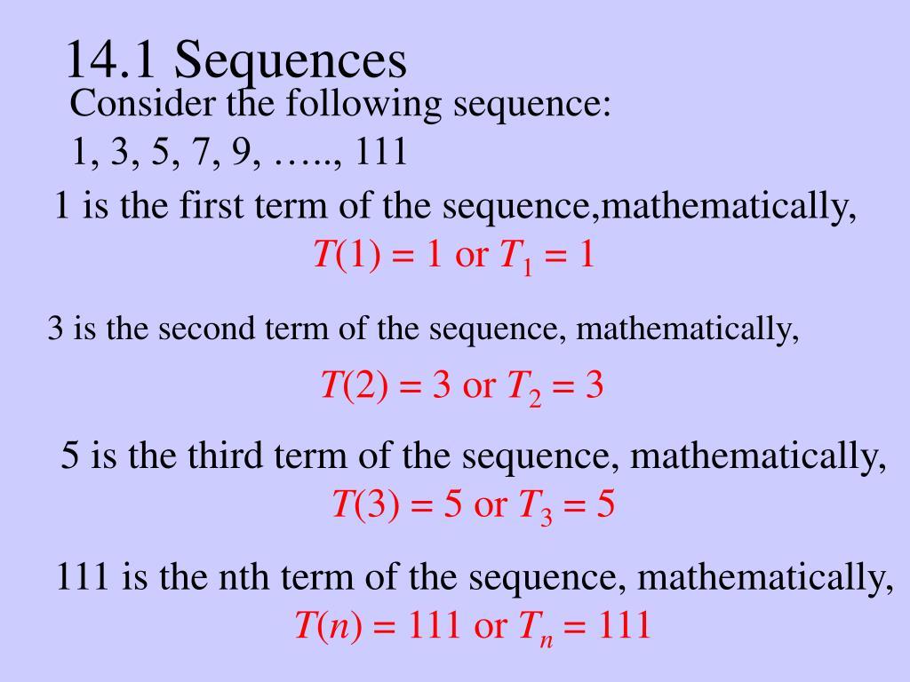 14.1 Sequences