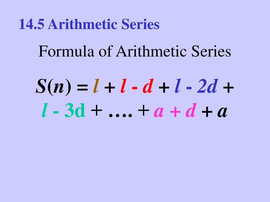 14.5 Arithmetic Series
