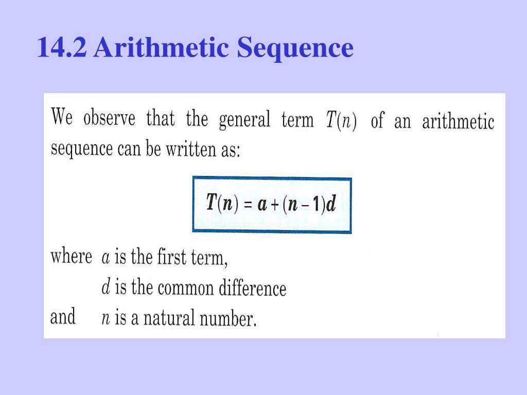 14.2 Arithmetic Sequence