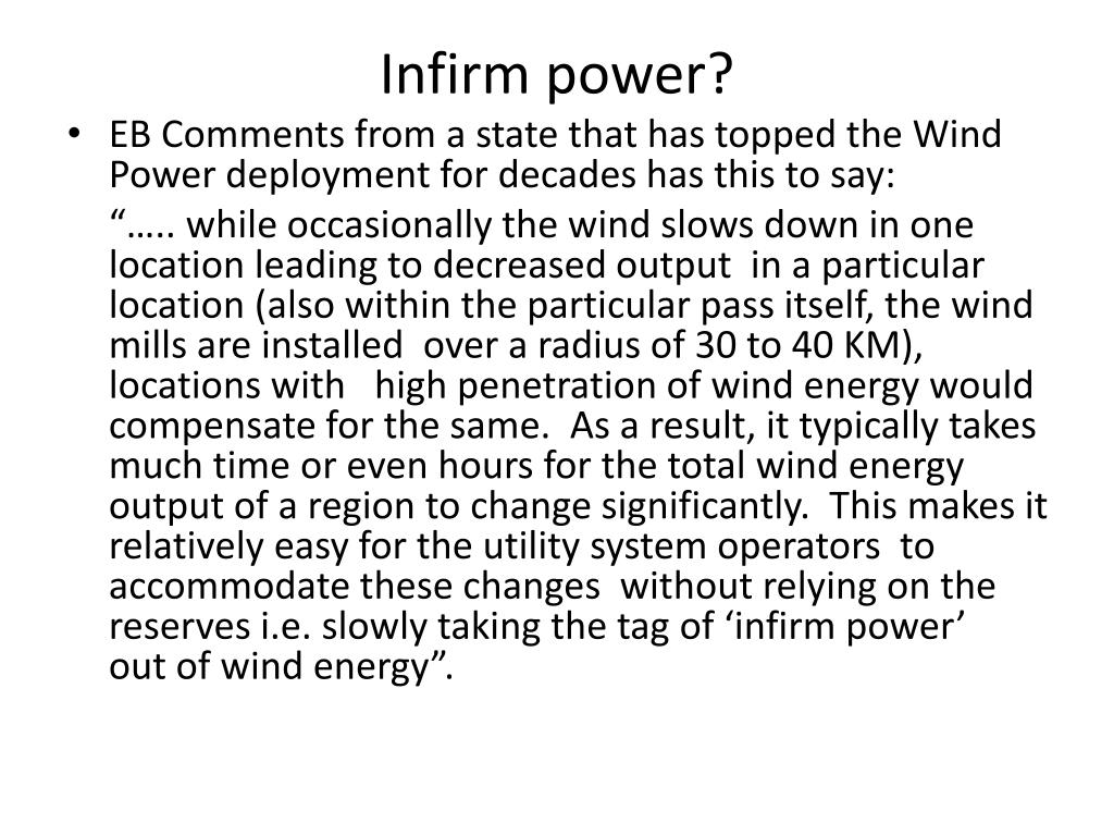 Infirm power?