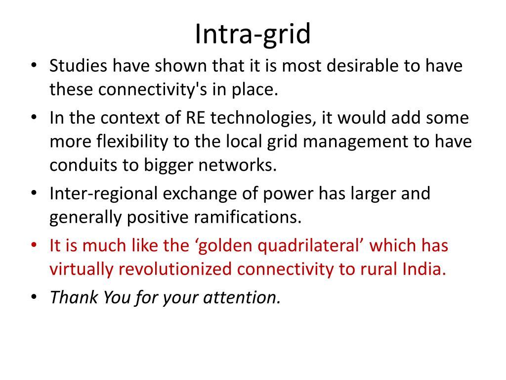 Intra-grid