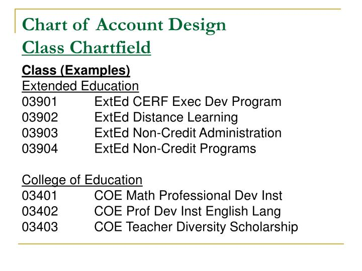 Chart of Account Design
