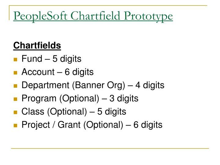 PeopleSoft Chartfield Prototype