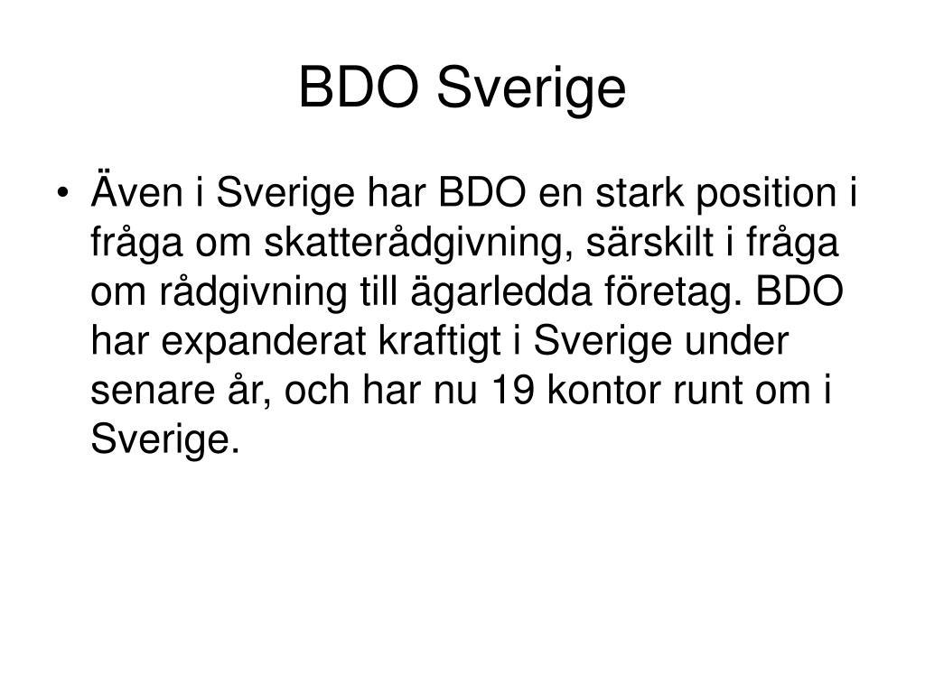 BDO Sverige