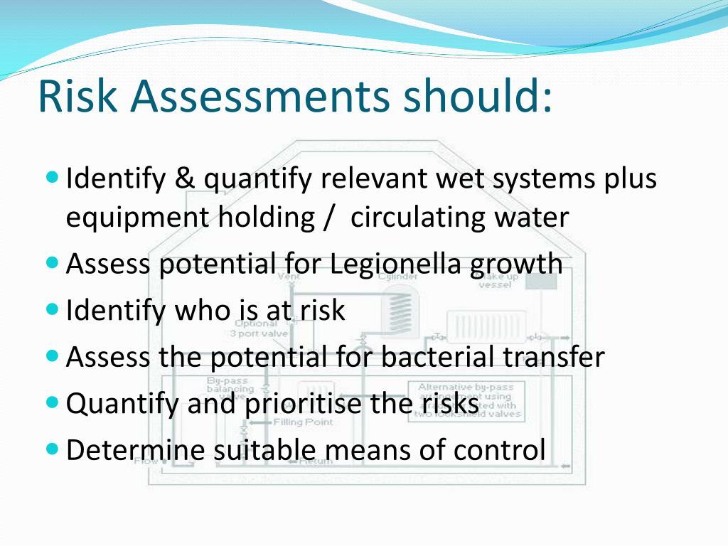 Risk Assessments should: