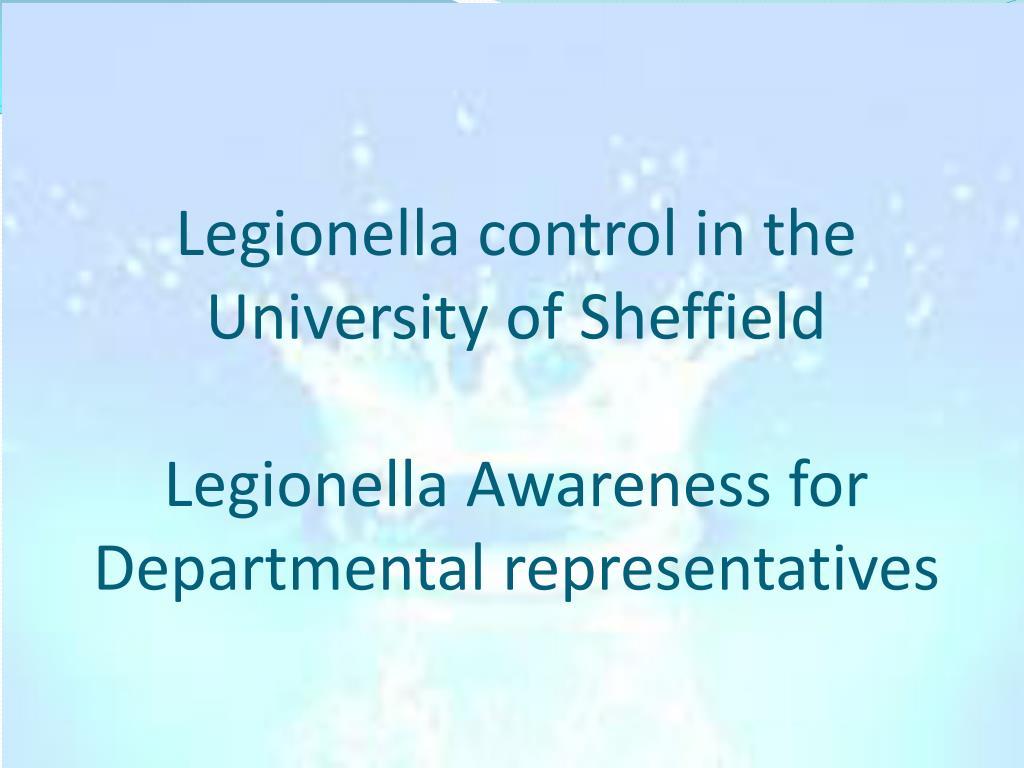 Legionella control in the