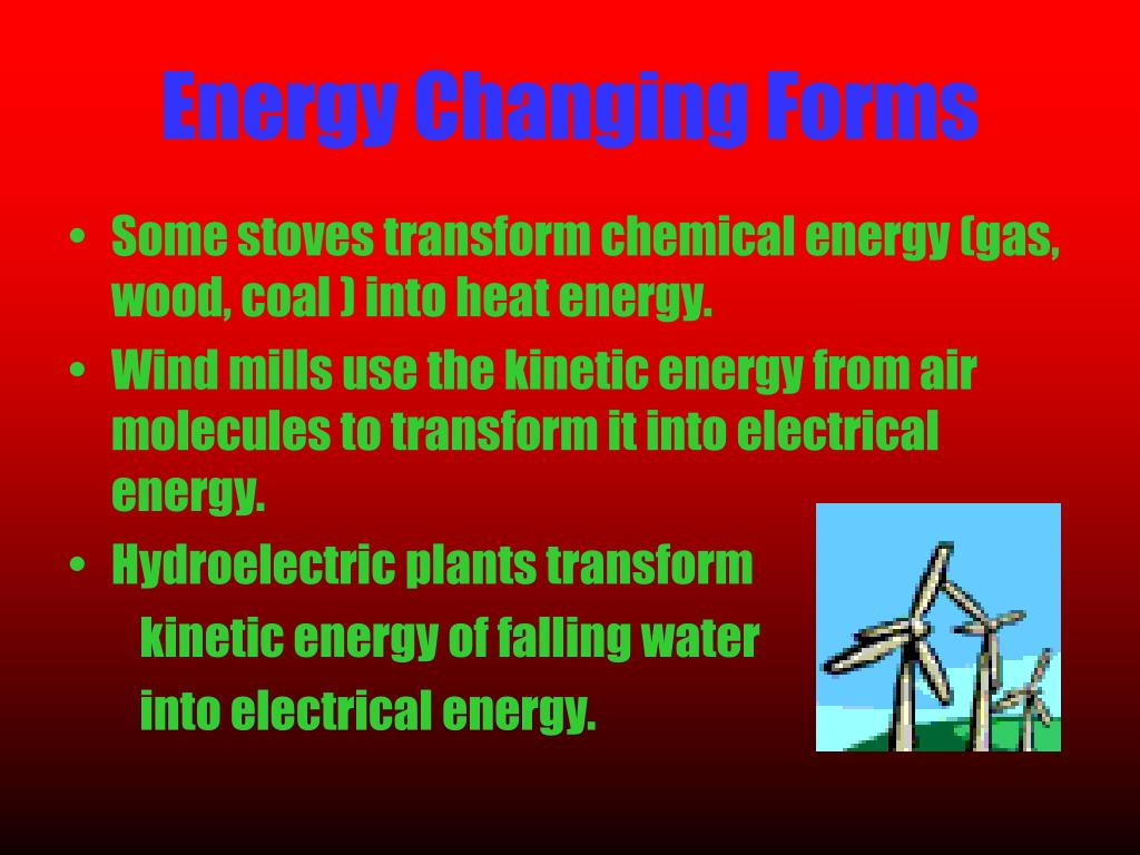 Energy Changing Forms