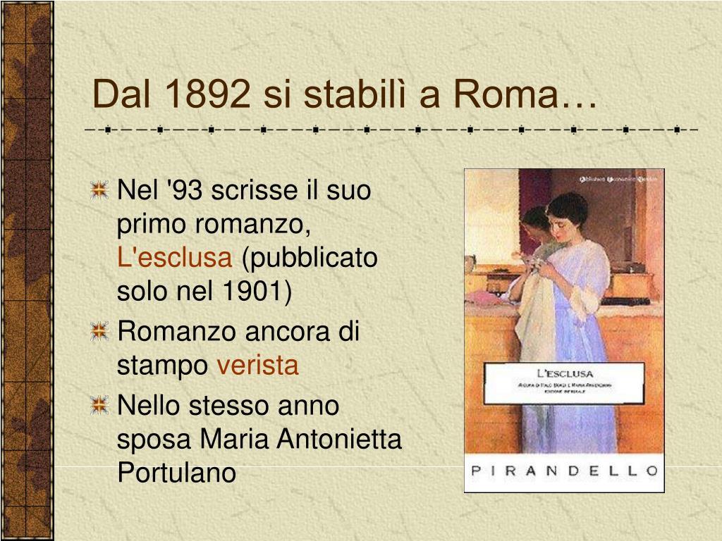 Dal 1892 si stabilì a Roma…