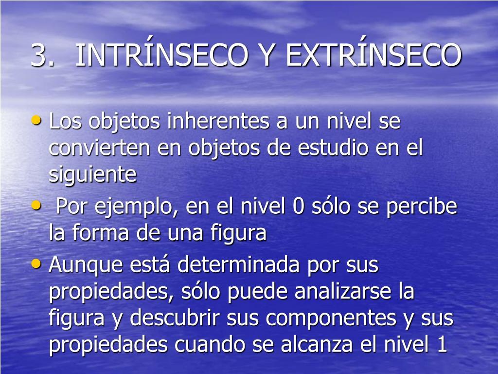 3.  INTRÍNSECO Y EXTRÍNSECO