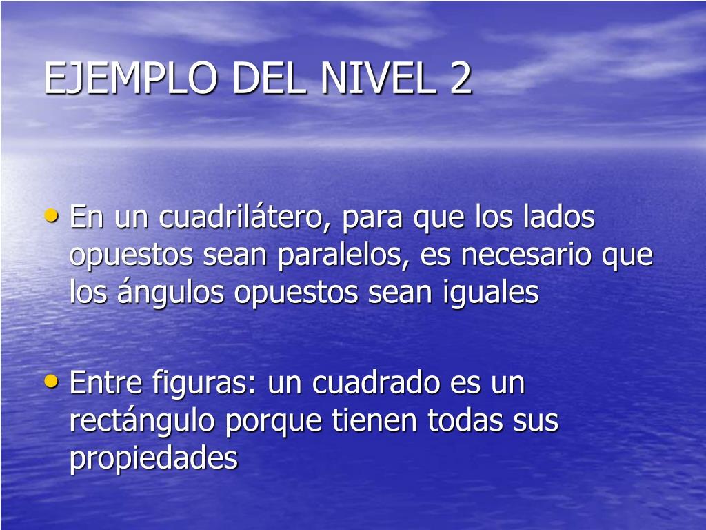EJEMPLO DEL NIVEL 2
