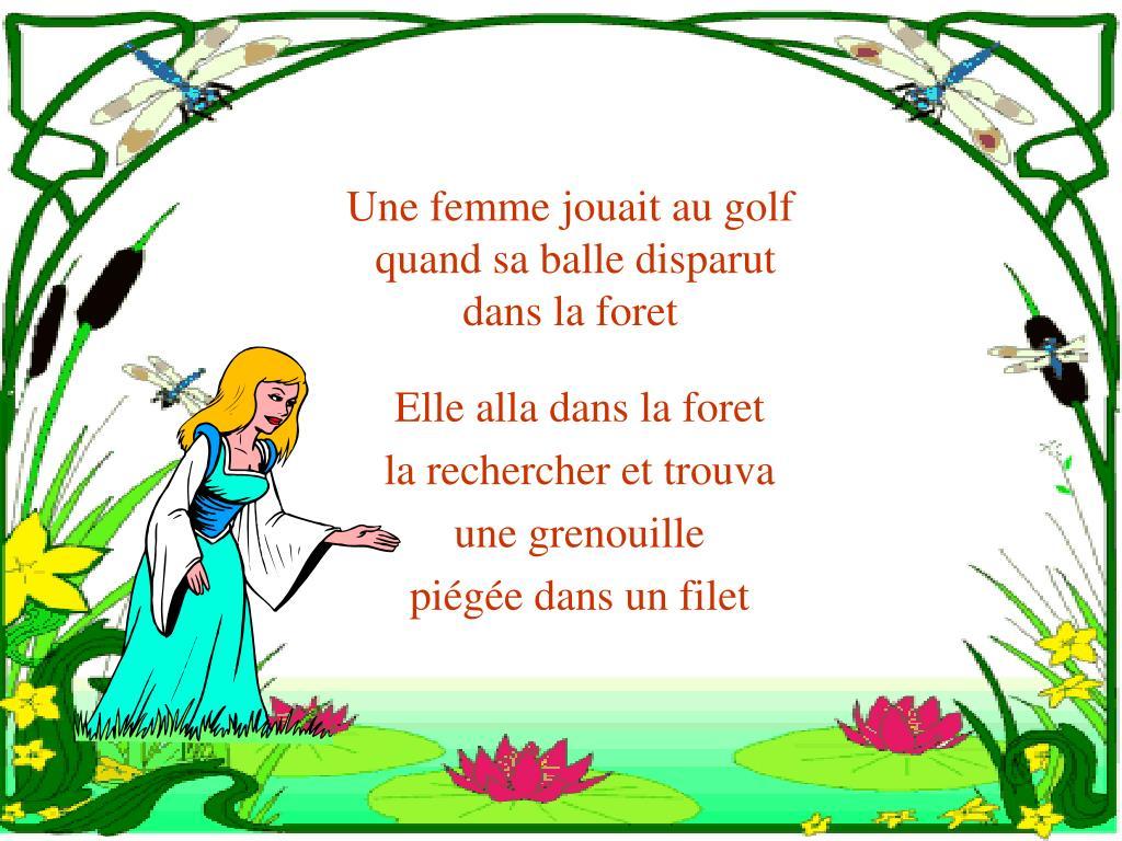 Une femme jouait au golf