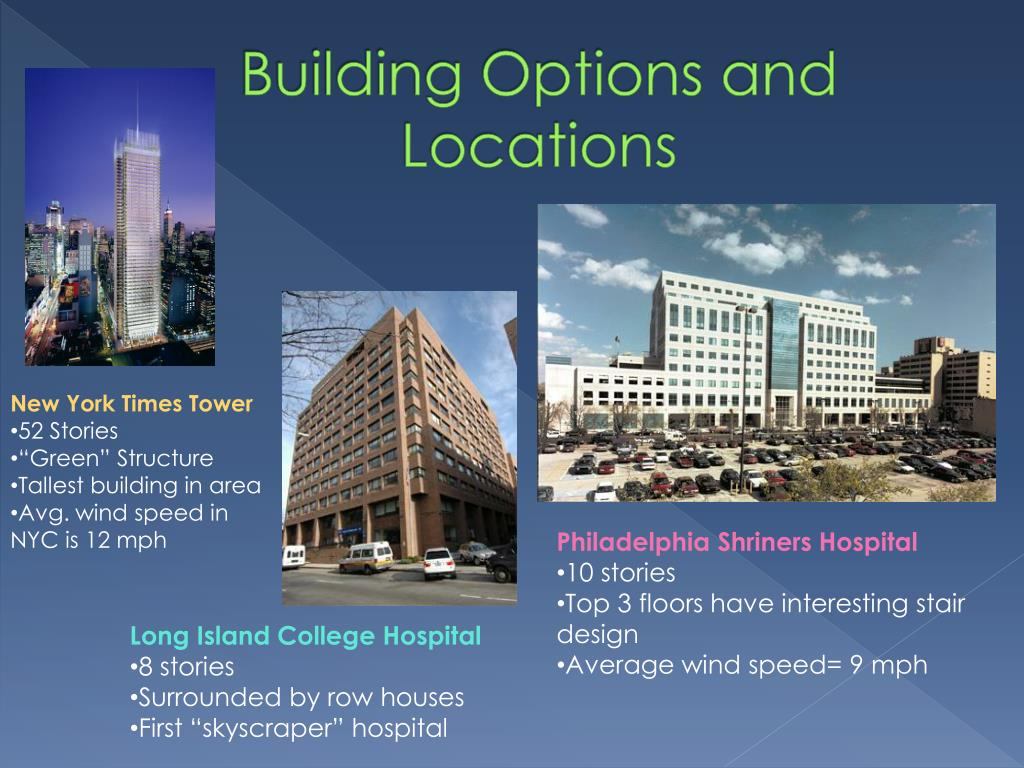 Building Options and Locations