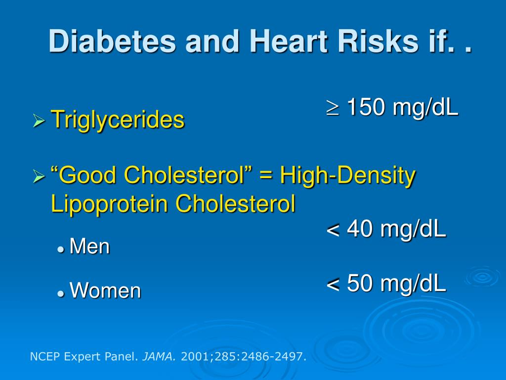 Diabetes and Heart Risks if. .