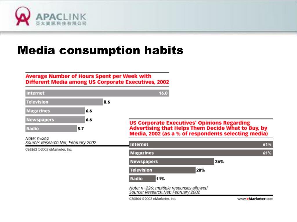 Media consumption habits