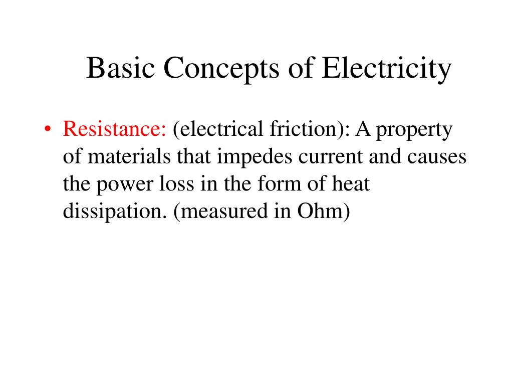 Basic Concepts of Electricity