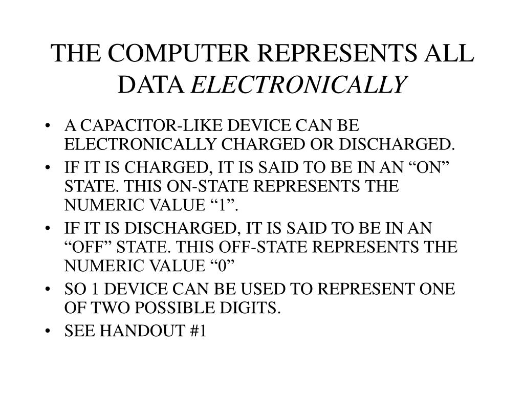THE COMPUTER REPRESENTS ALL DATA