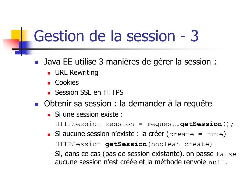 Gestion de la session - 3