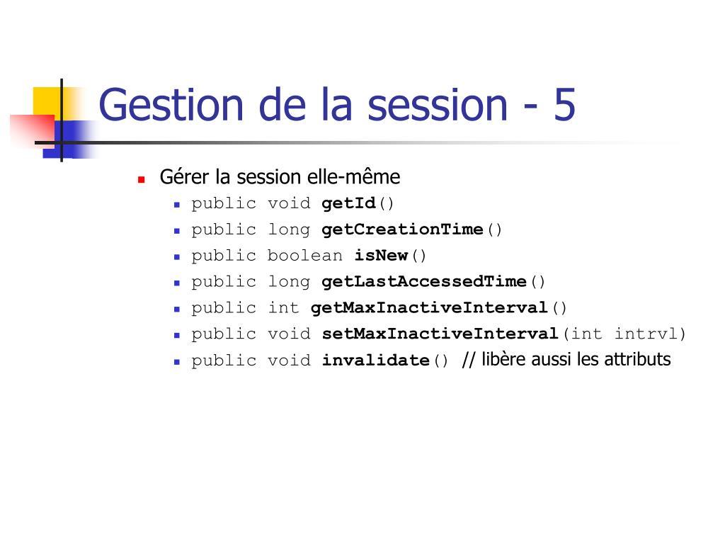 Gestion de la session - 5