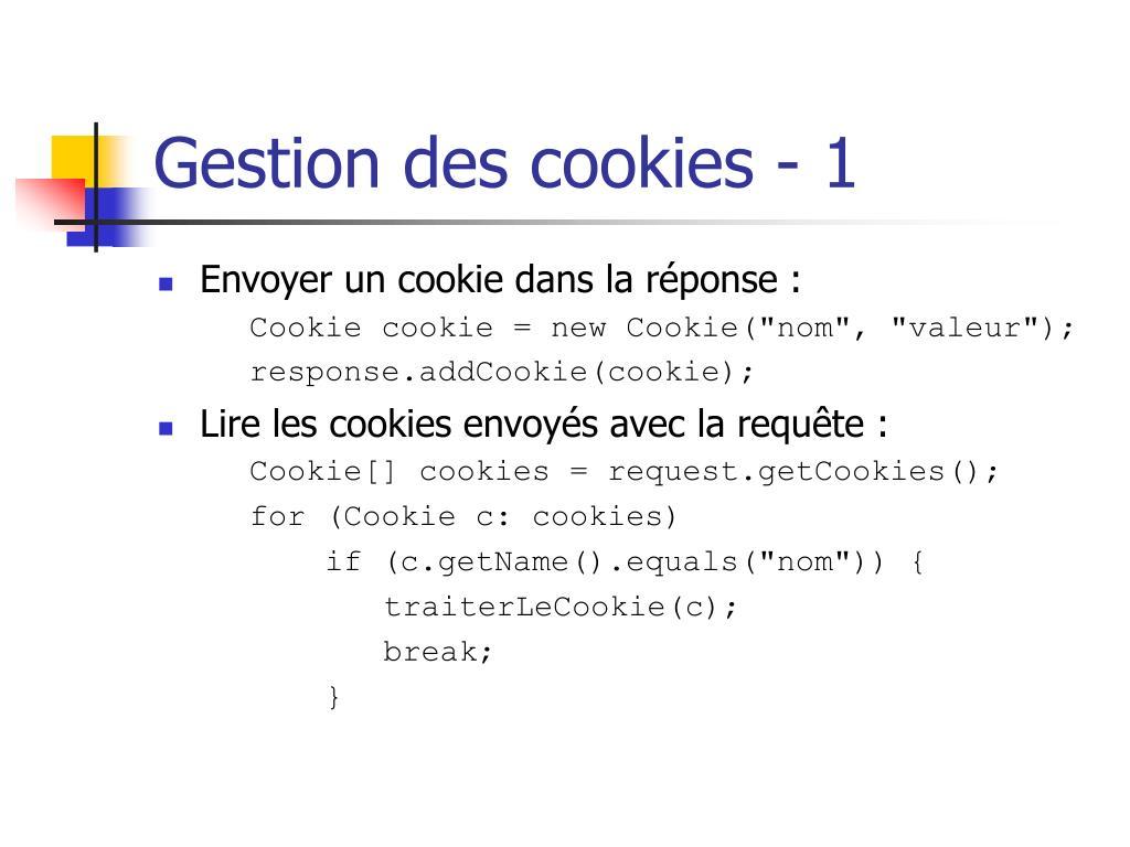 Gestion des cookies - 1