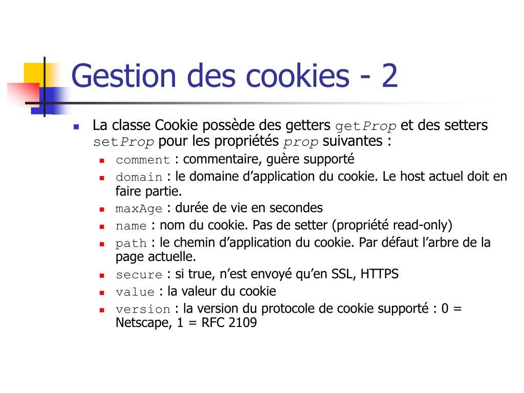 Gestion des cookies - 2