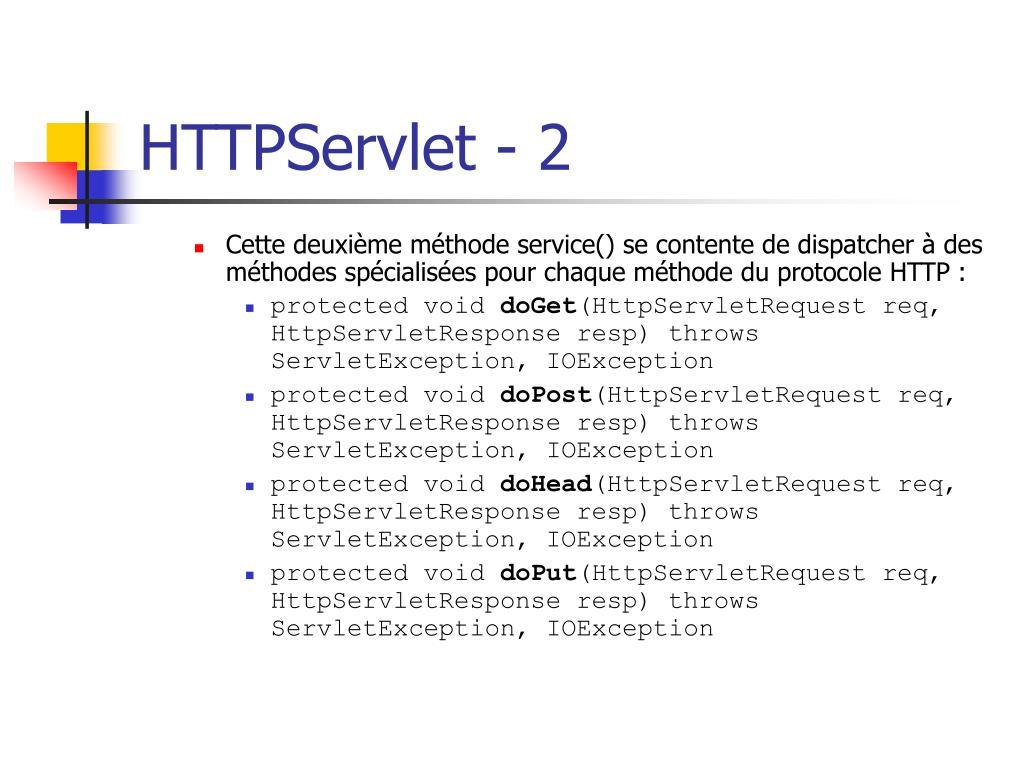 HTTPServlet - 2
