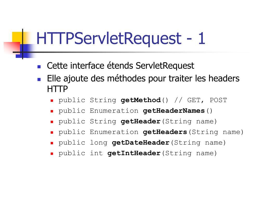 HTTPServletRequest - 1