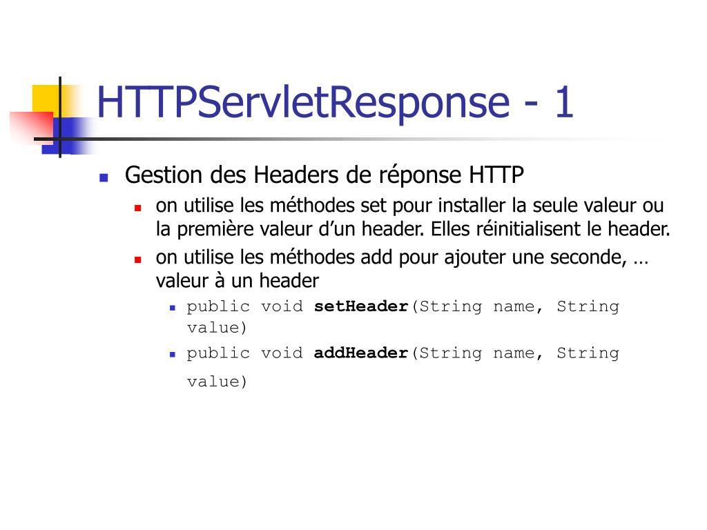 HTTPServletResponse - 1