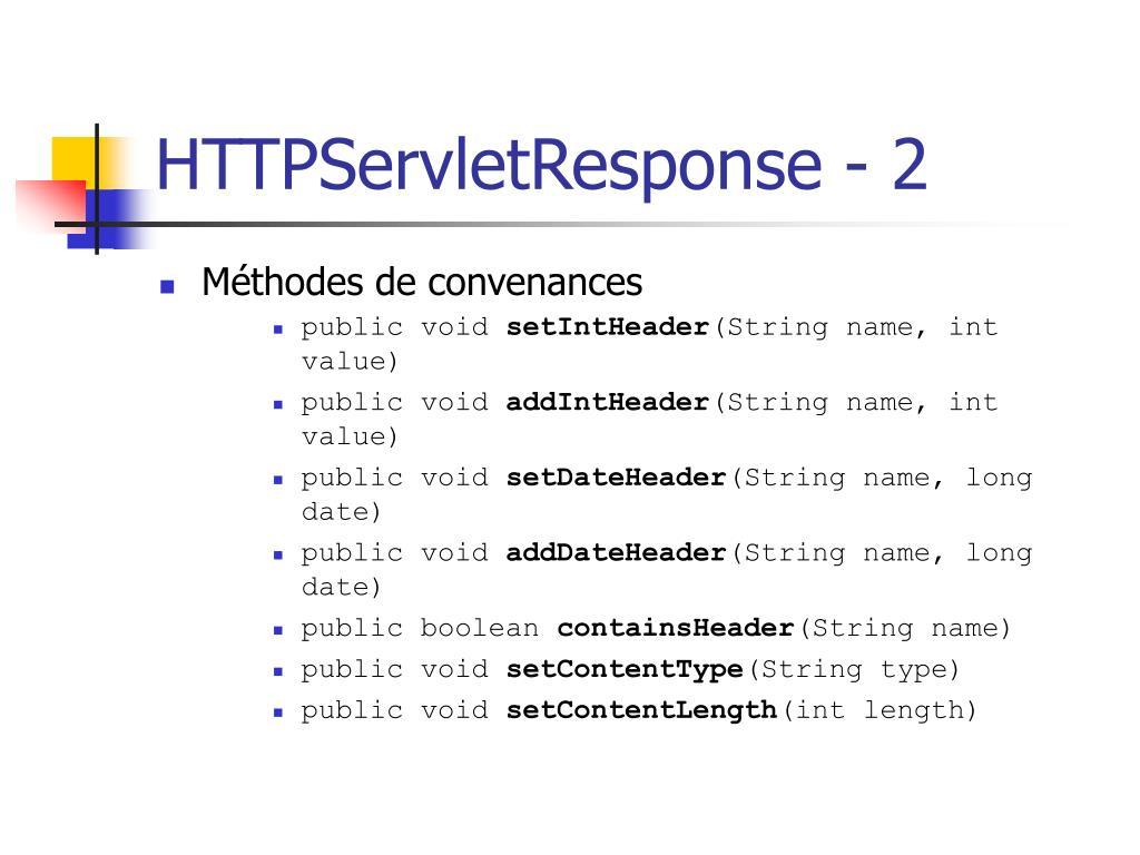 HTTPServletResponse - 2