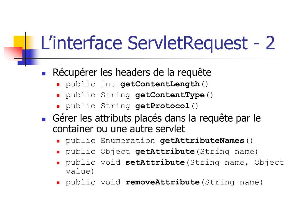 L'interface ServletRequest - 2