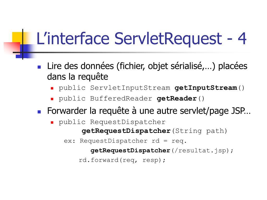 L'interface ServletRequest - 4